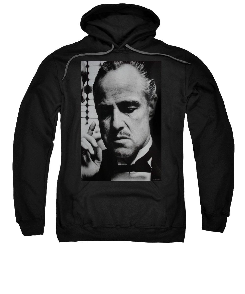 Marlon Brando Sweatshirt featuring the photograph Godfather by Rob Hans