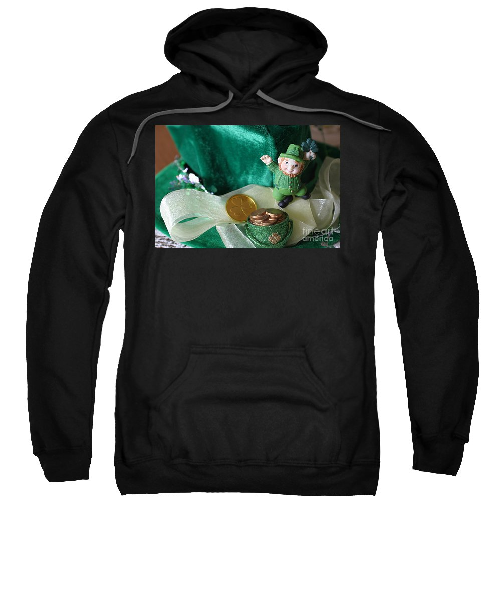 Happy St. Patrick's Day Sweatshirt featuring the photograph Happy St. Patricks Day by Living Color Photography Lorraine Lynch