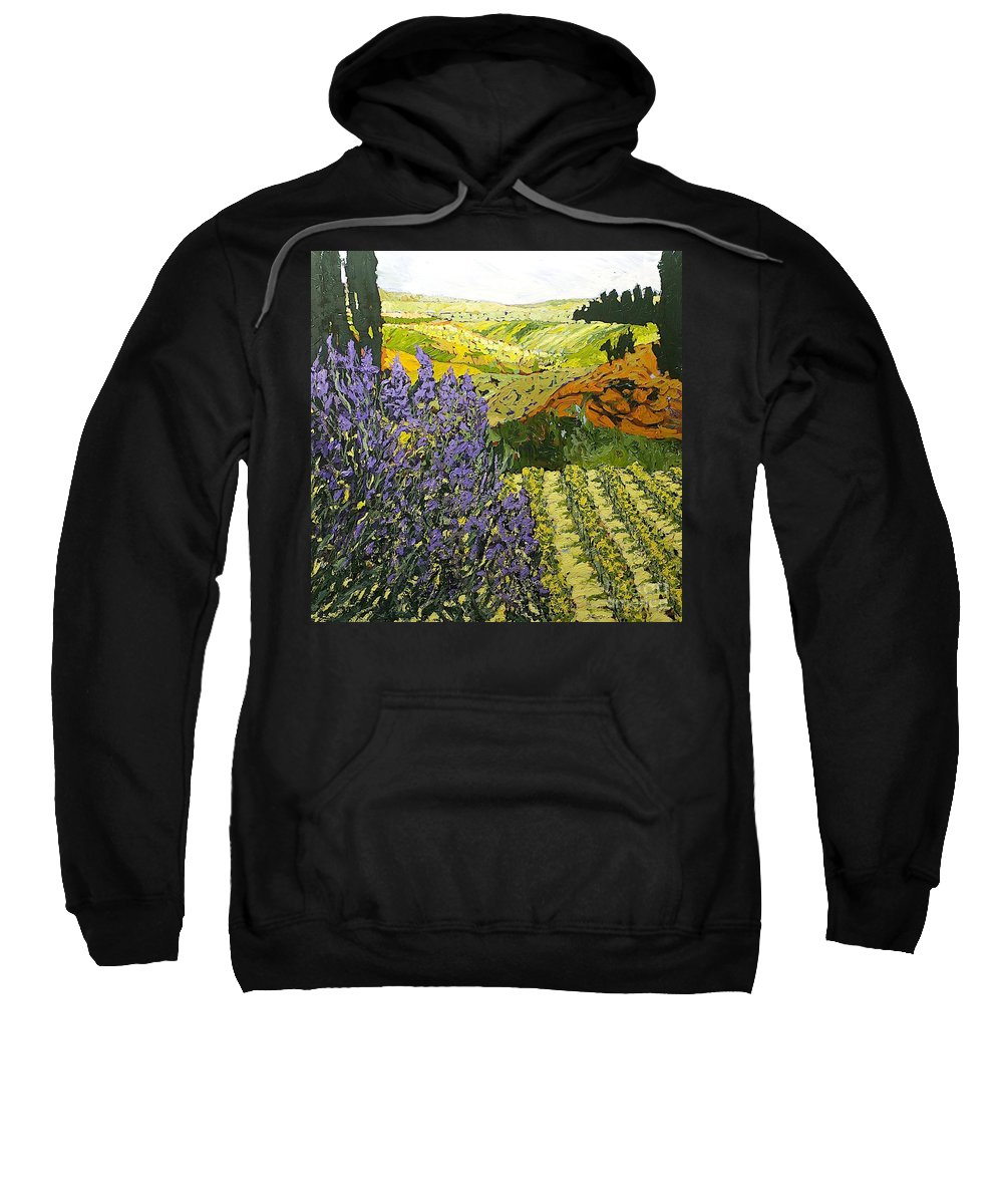 Landscape Sweatshirt featuring the painting It Is Magic by Allan P Friedlander