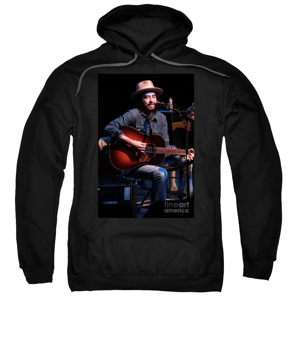 Jackie Greene Sweatshirt featuring the photograph Jackie Greene by Concert Photos