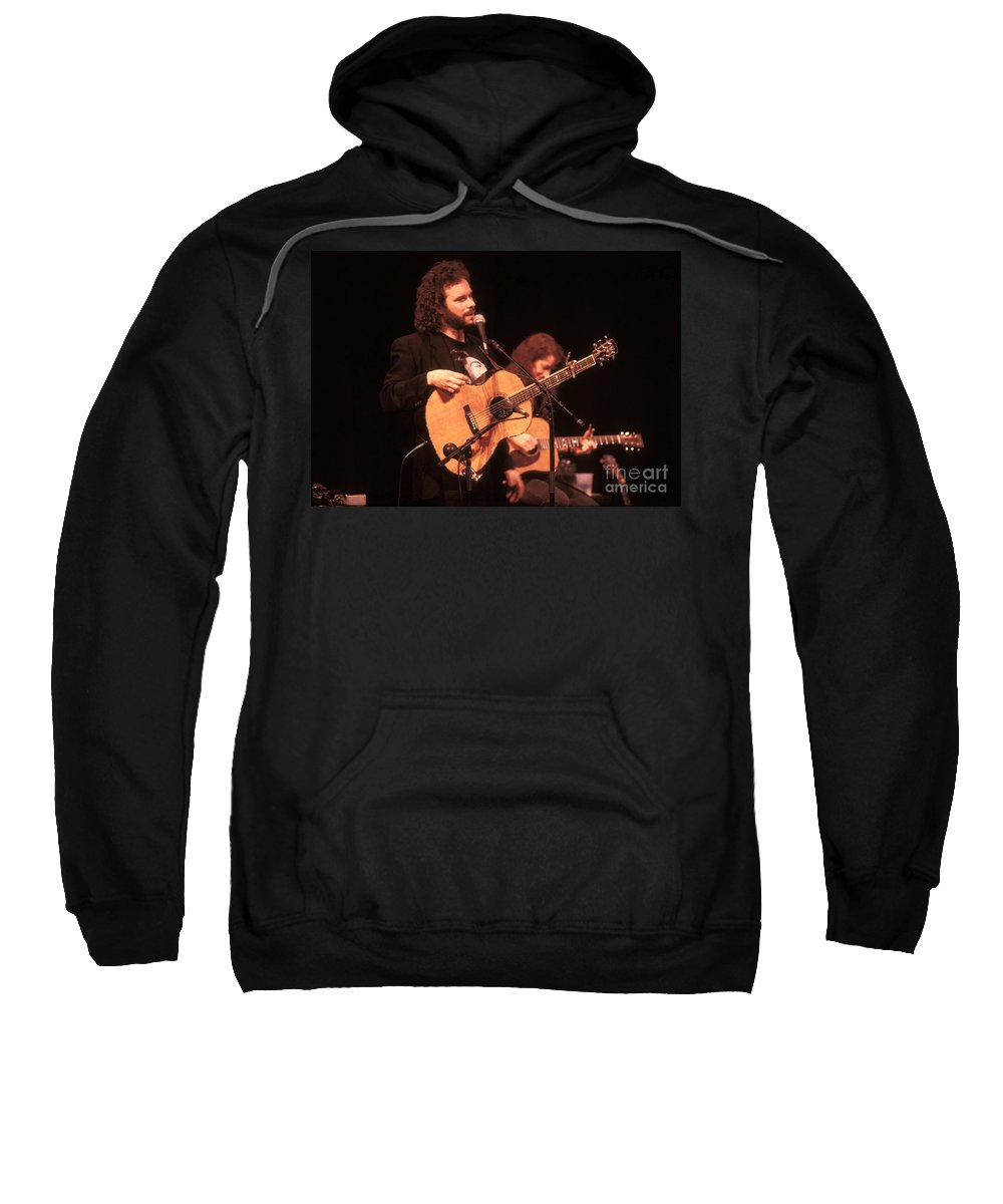 Performance Sweatshirt featuring the photograph John Gorka by Concert Photos