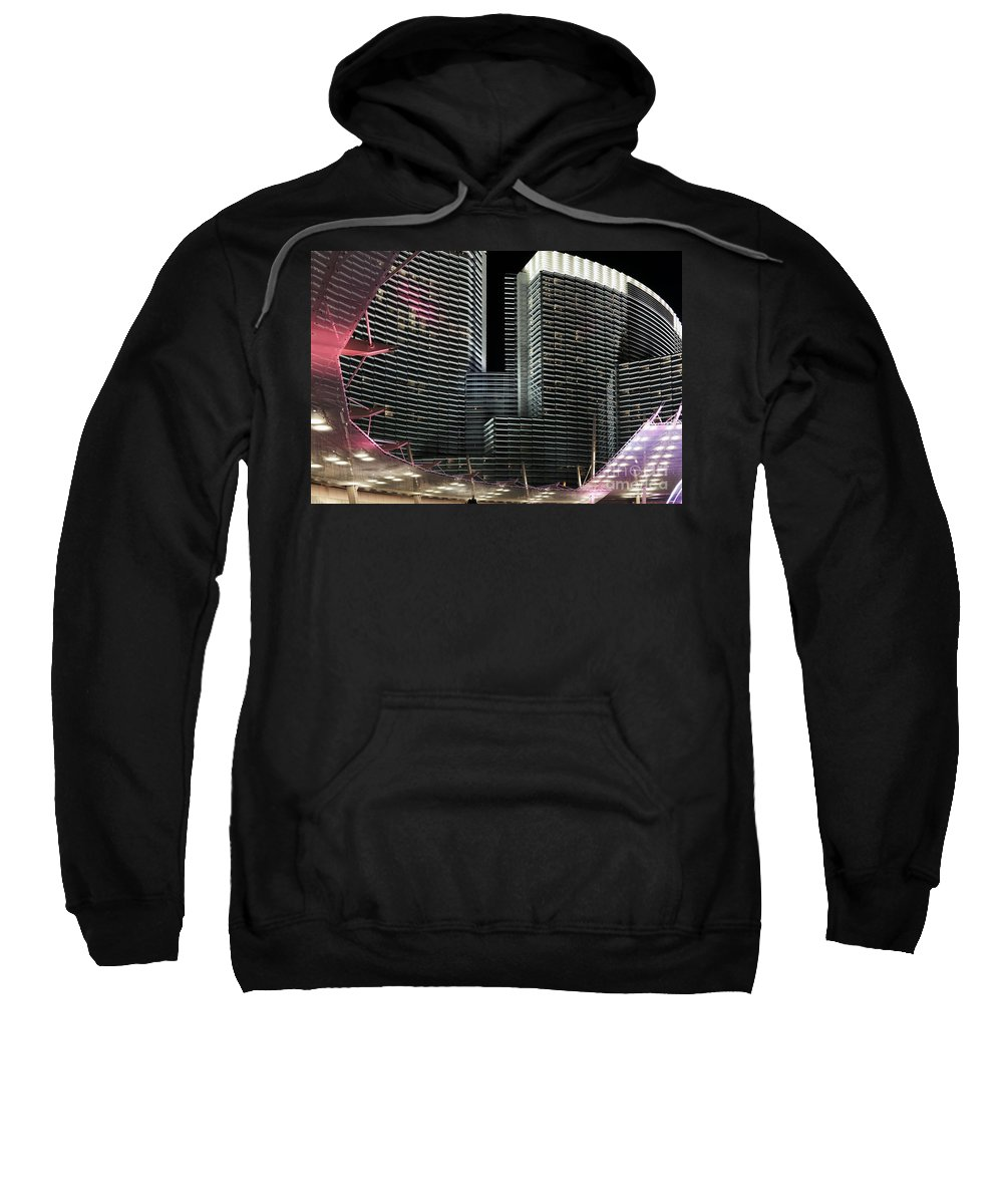 Horizontal Sweatshirt featuring the photograph Las Vegas Lights Nevada by Patrick McGill