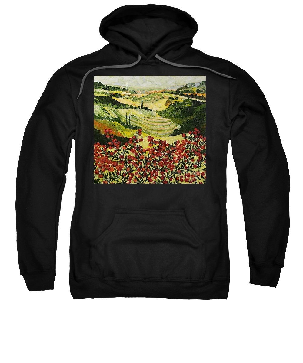 Landscape Sweatshirt featuring the painting Look And Behold by Allan P Friedlander