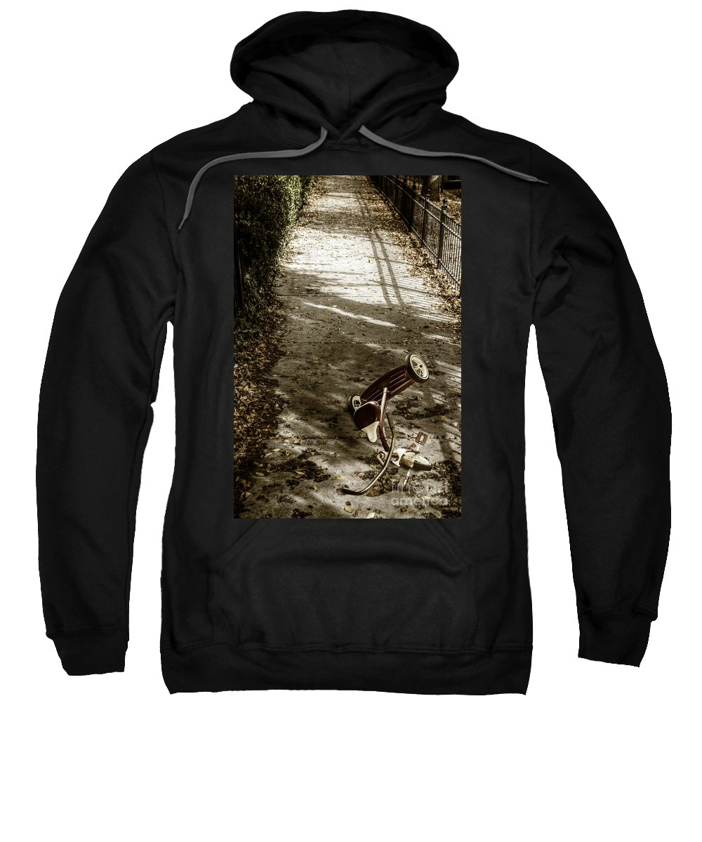 Tricycle Sweatshirt featuring the photograph Lost by Margie Hurwich