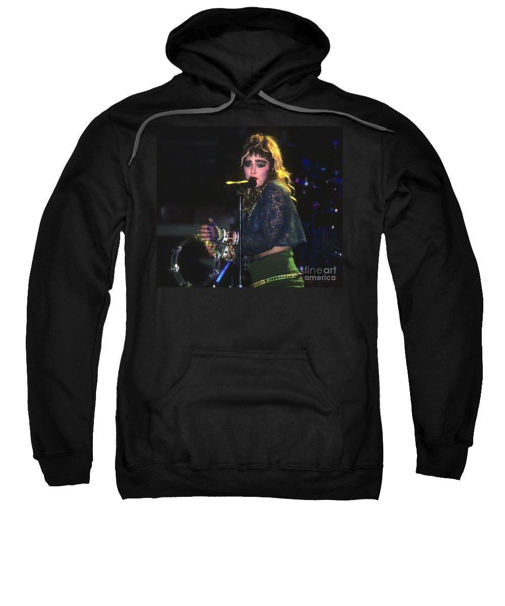 Madonna Sweatshirt featuring the photograph Madonna 1985 by David Plastik