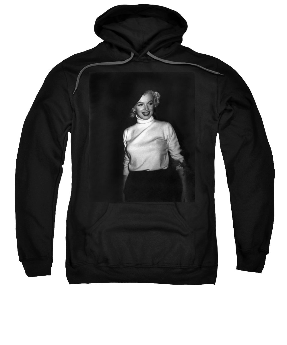 1954 Sweatshirt featuring the photograph Marilyn Monroe In Korea by Underwood Archives