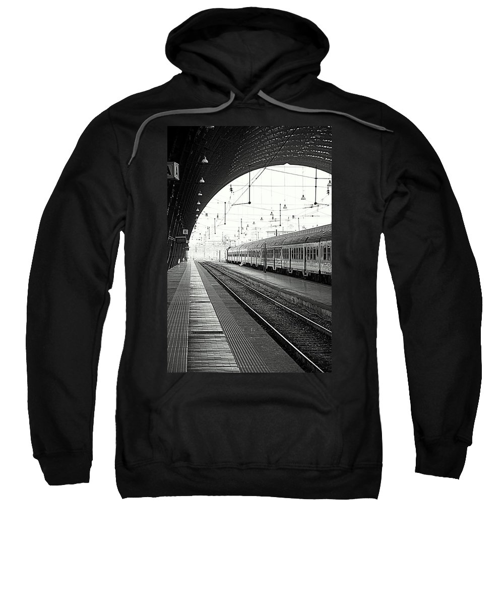 Train Sweatshirt featuring the photograph Milan Central Station by Valentino Visentini