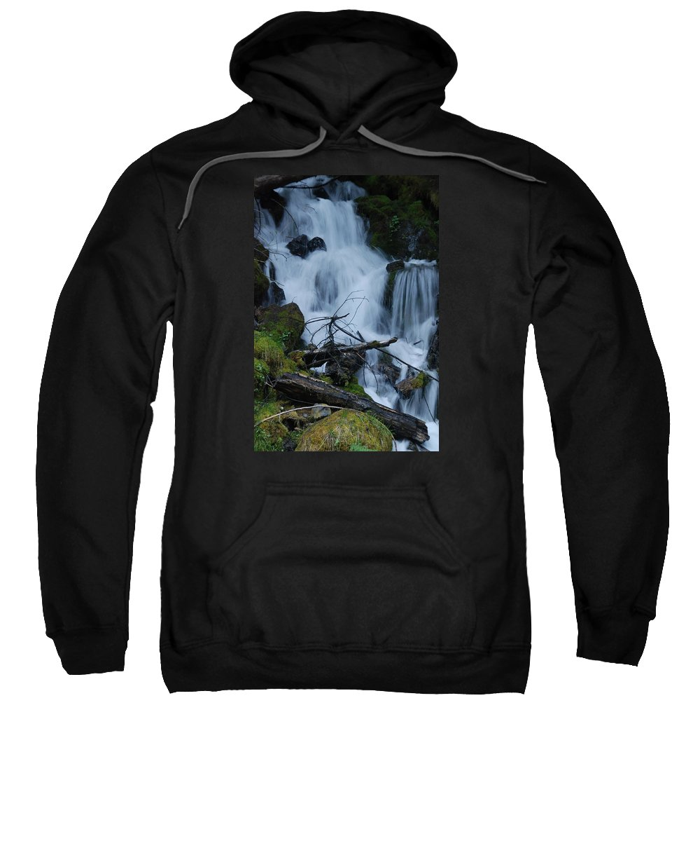 Waterfall Sweatshirt featuring the photograph Mountain Waterfall by Michael Merry