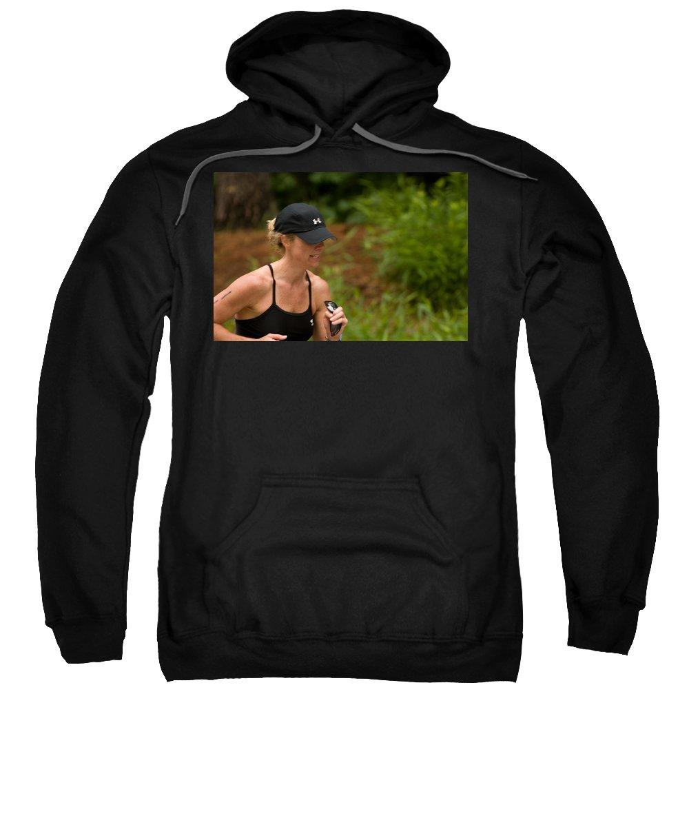 """""""nashua Sprint Y-triathlon"""" Sweatshirt featuring the photograph Nashua Sprint Y-tri 11 by Paul Mangold"""
