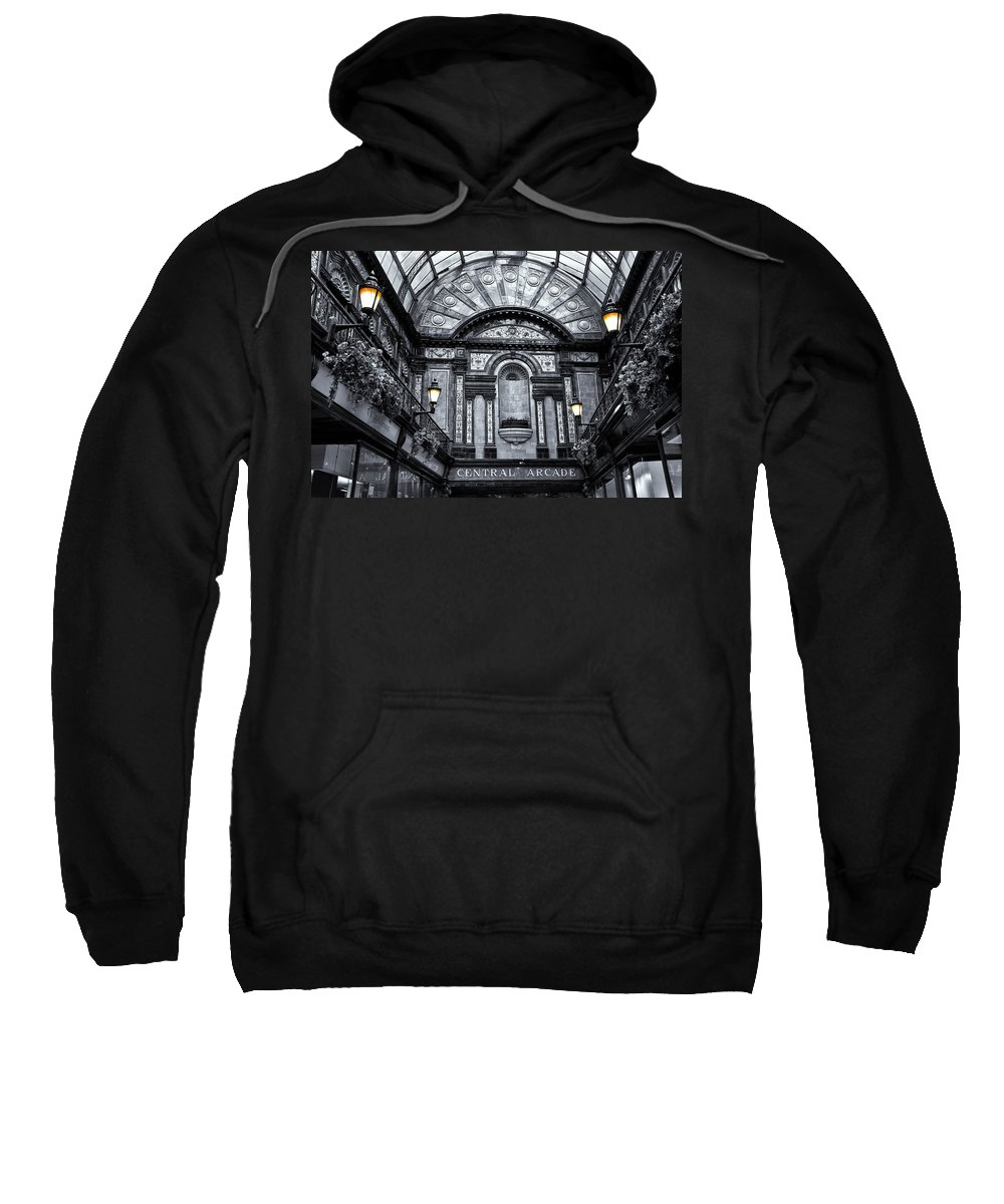 Central Sweatshirt featuring the photograph Newcastle Central Arcade by David Pringle