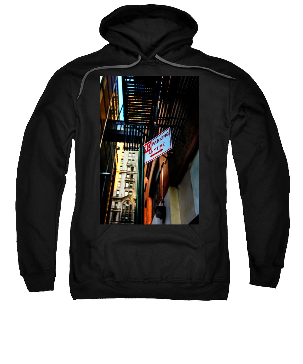 Streets Of New York Sweatshirt featuring the photograph No Parking by Digital Kulprits