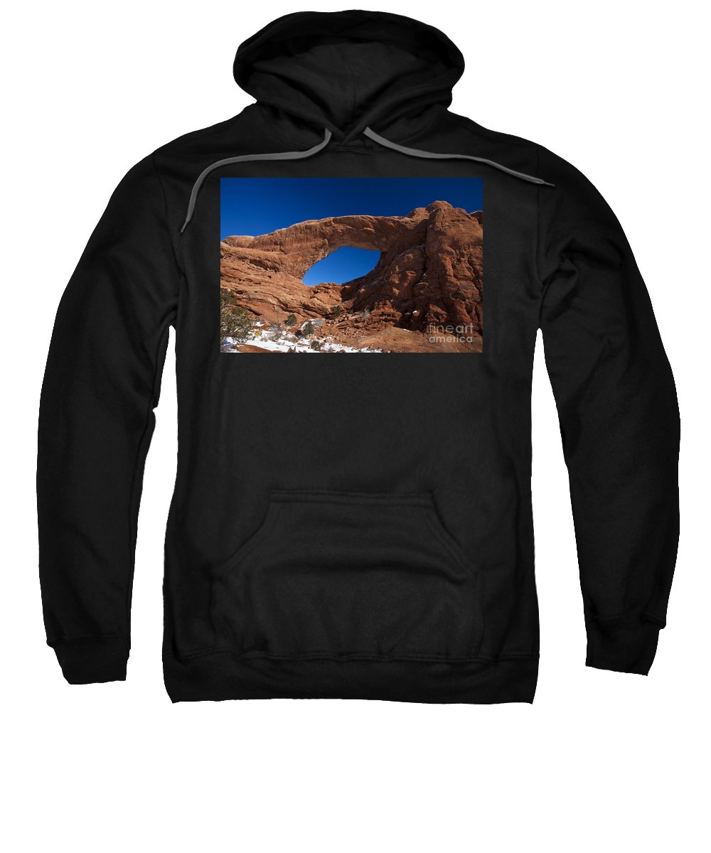 Arches Sweatshirt featuring the photograph North Window Arches National Park Utah by Jason O Watson