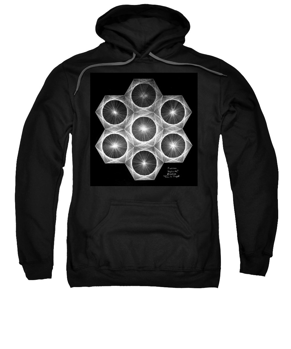 Fractal Sweatshirt featuring the drawing Nuclear Fusion by Jason Padgett