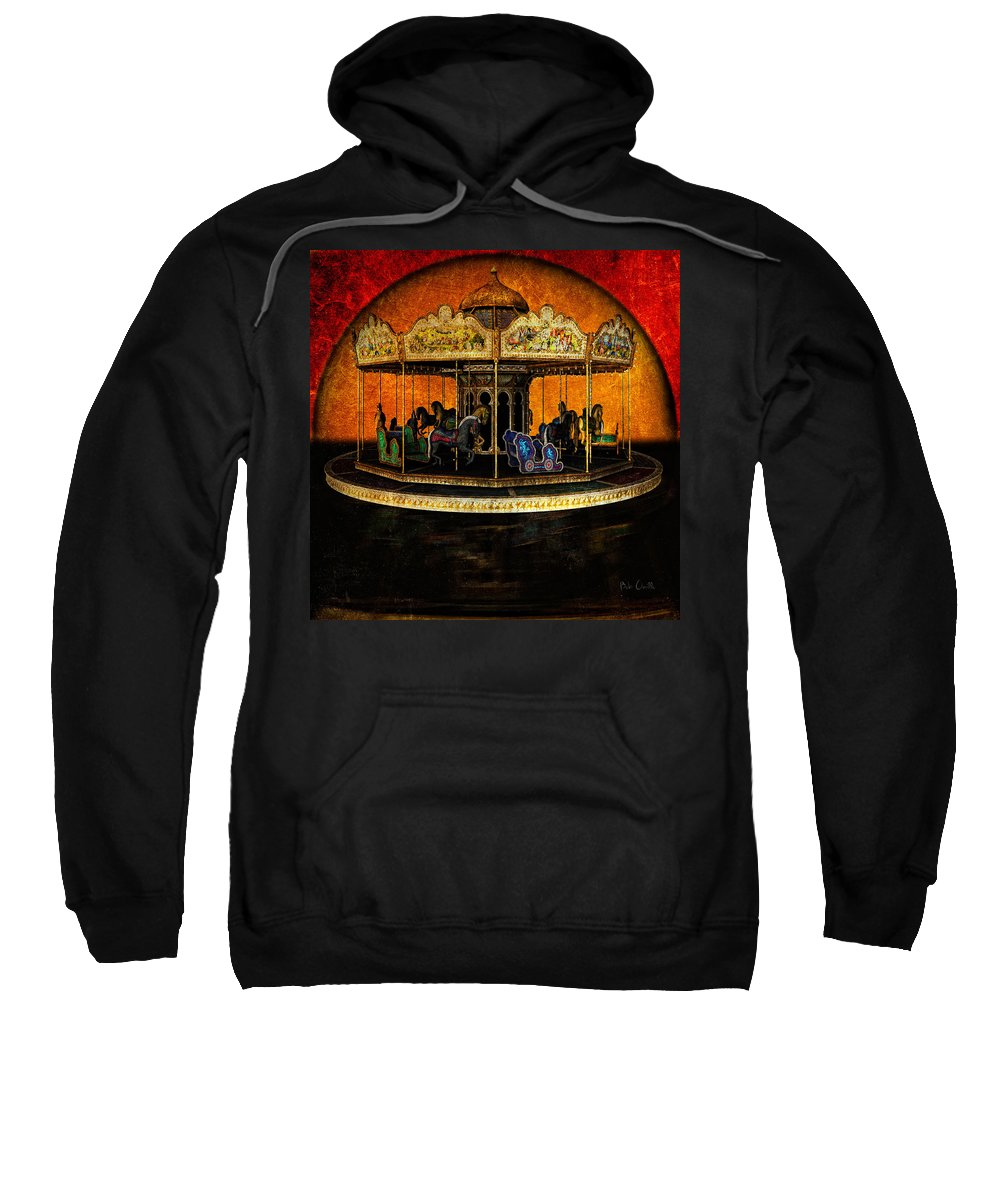 Carnival Sweatshirt featuring the photograph Painted Ponies by Bob Orsillo