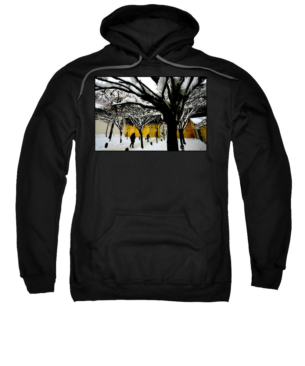 Winter Sweatshirt featuring the photograph Prague Winter by Paul Sutcliffe