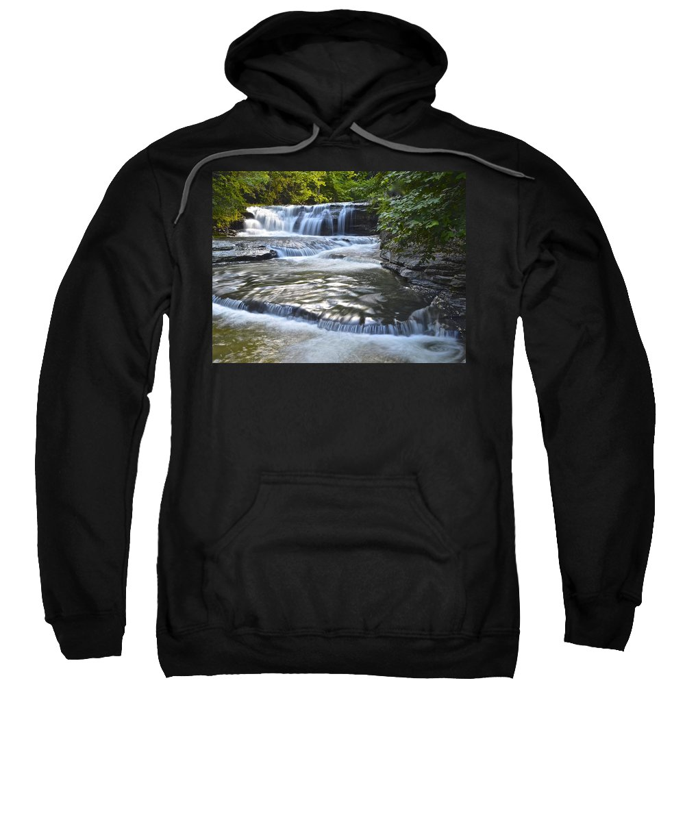 Robert Sweatshirt featuring the photograph Robert Treman State Park by Frozen in Time Fine Art Photography