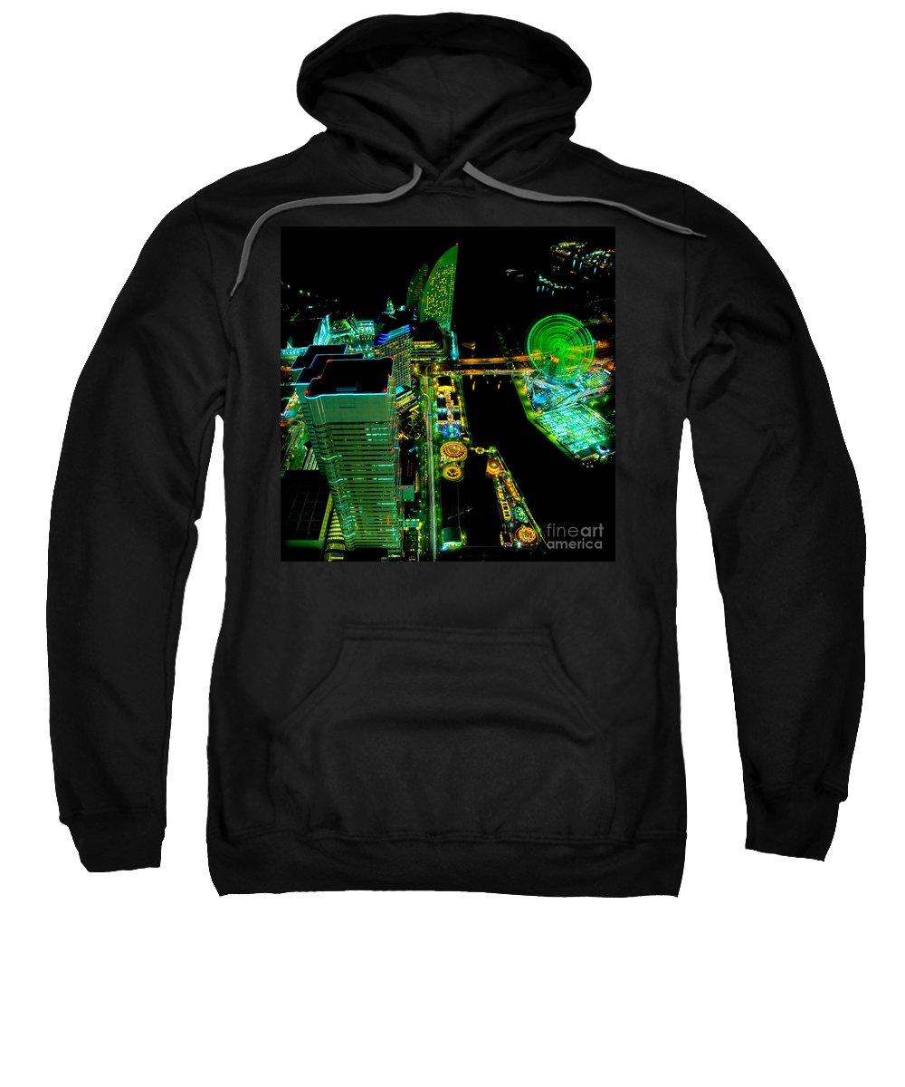Sakuragicho Sweatshirt featuring the photograph Sakuragicho At Night by Julian Cook