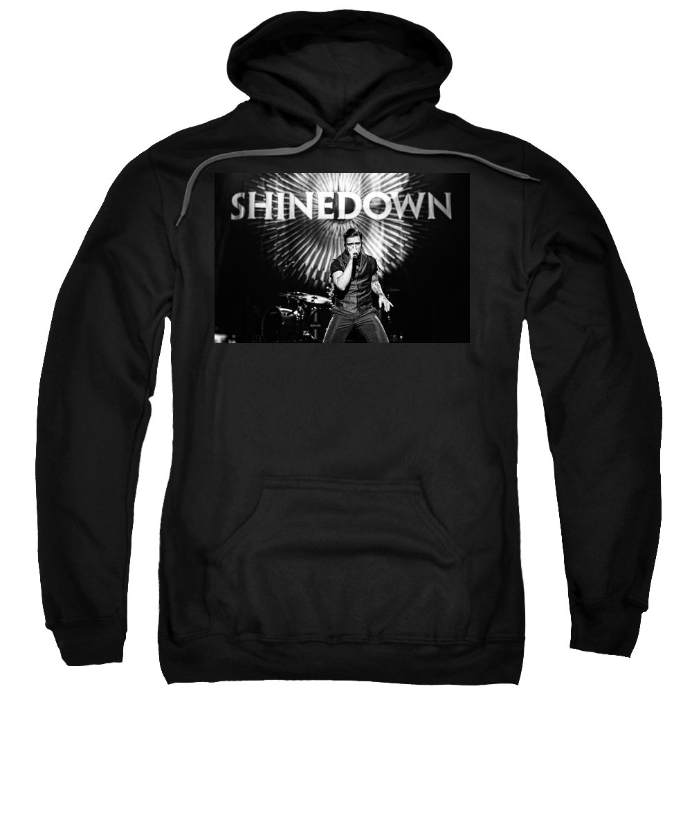 1-25-2013 Sweatshirt featuring the photograph Shinedown Brent Smith by William Towner