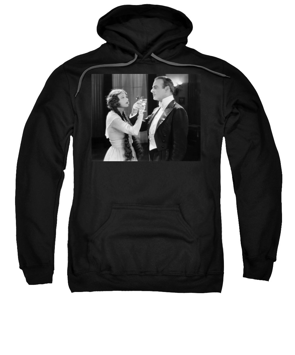 1920s Sweatshirt featuring the photograph Silent Film Still: Drinking by Granger
