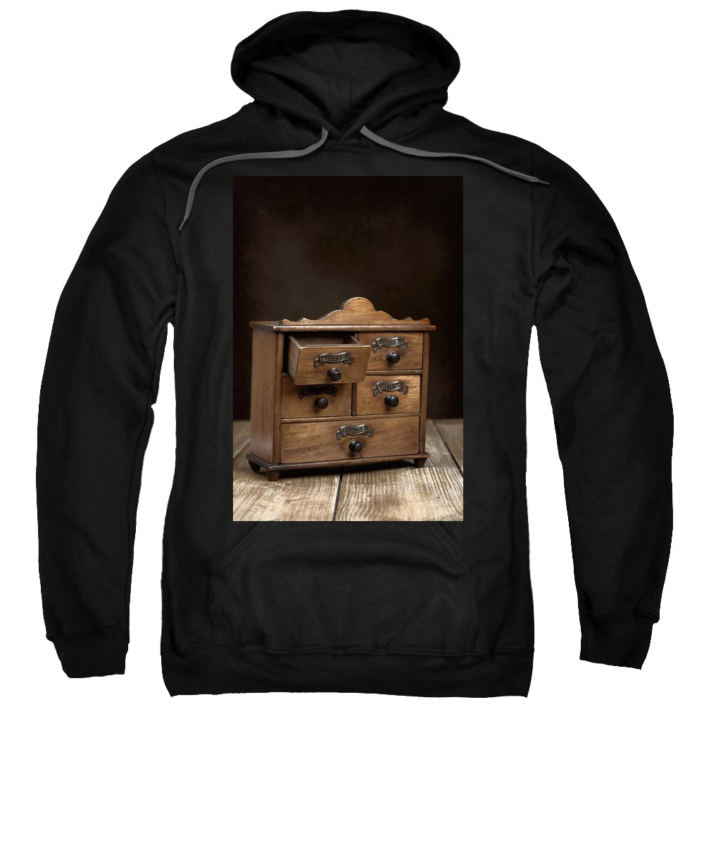 Spice Sweatshirt featuring the photograph Spice Cabinet by Amanda Elwell