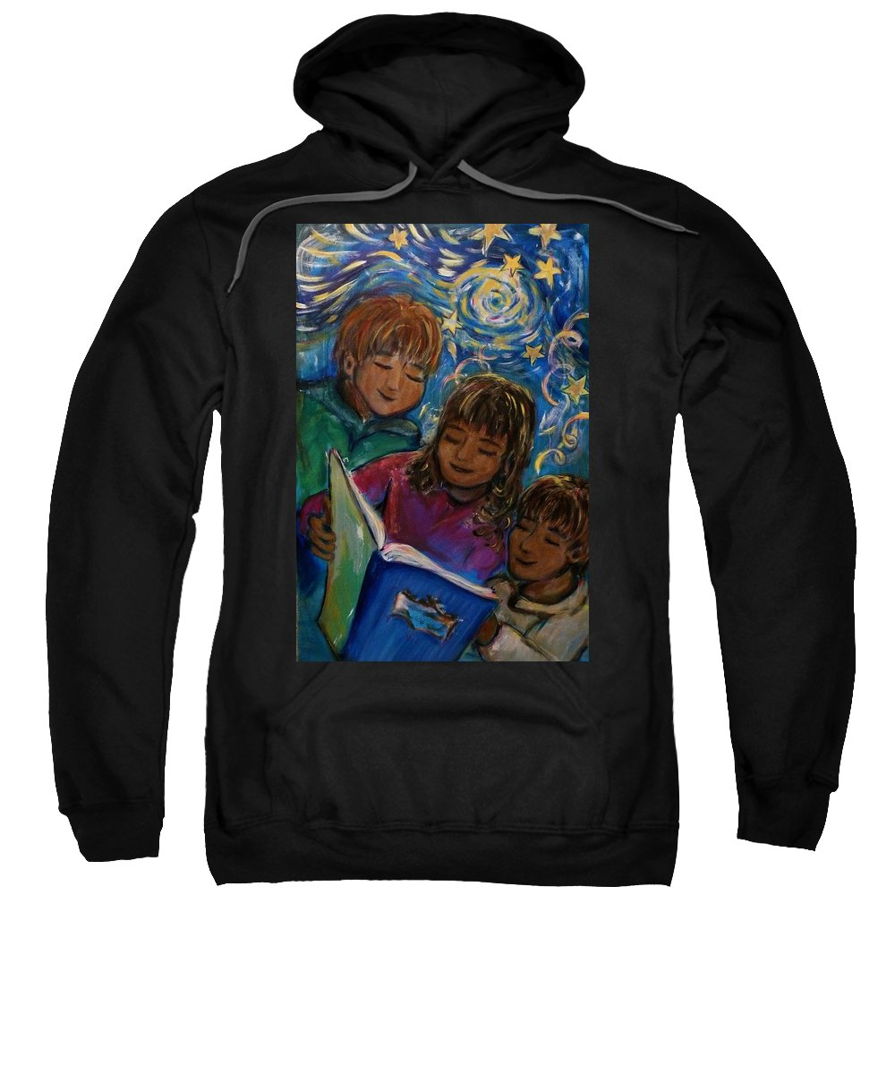 Children Sweatshirt featuring the painting Story Time by Regina Walsh