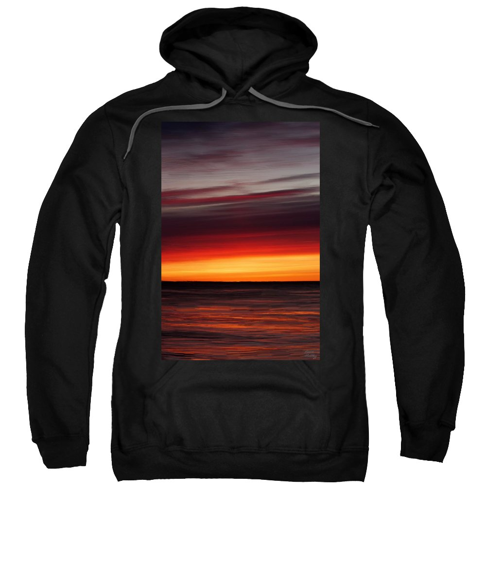 Sunset Sweatshirt featuring the painting Sunset On The Sea by Bruce Nutting