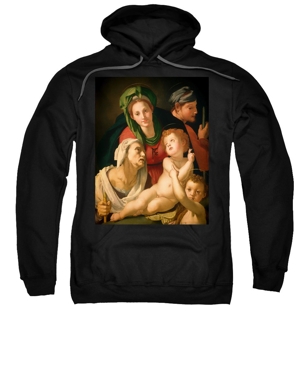 Painting Sweatshirt featuring the painting The Holy Family by Mountain Dreams