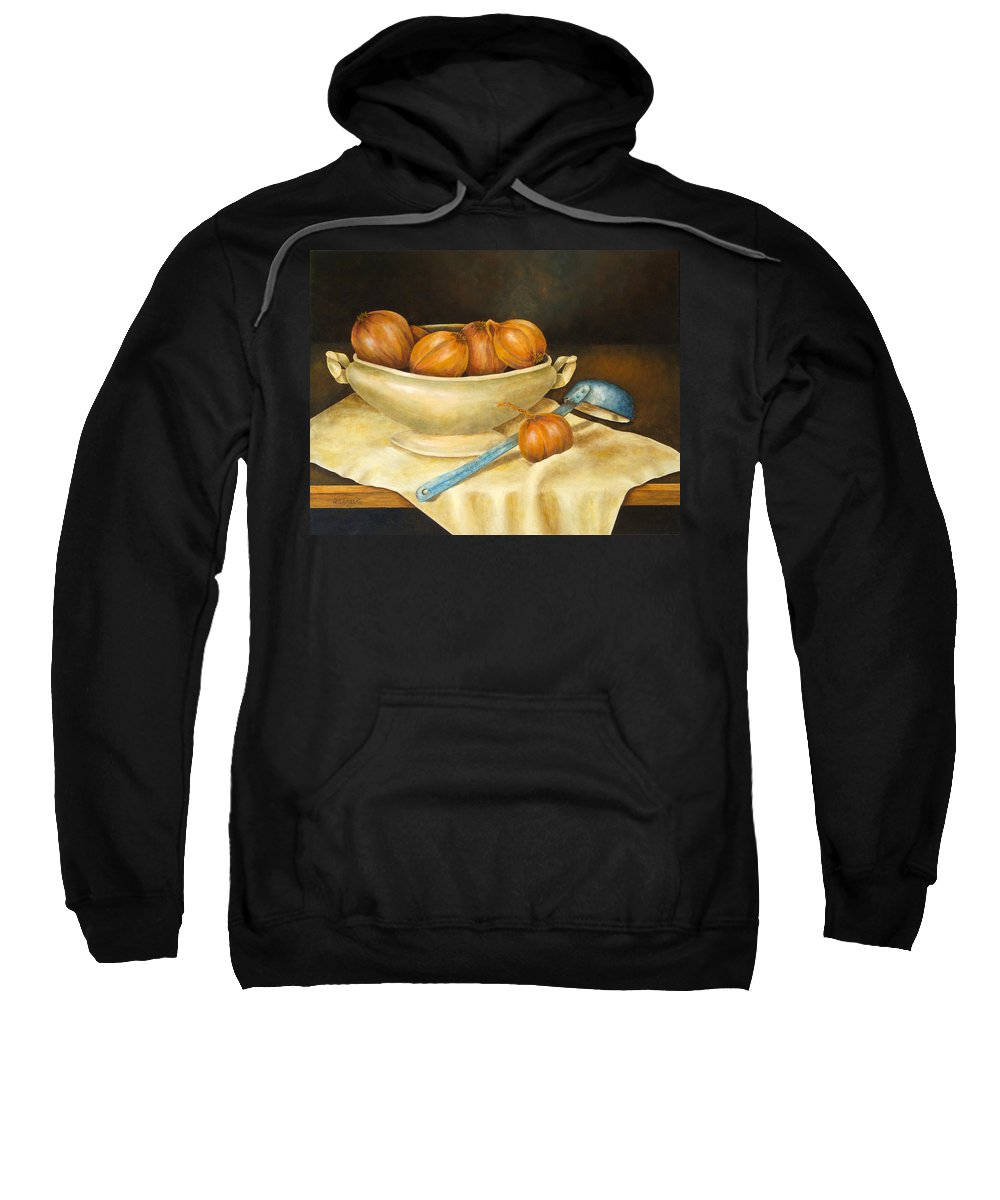 Allegretto Art Sweatshirt featuring the painting Venetian Table by Pamela Allegretto