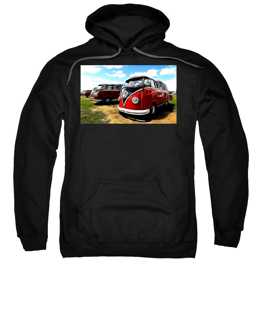 Vw Sweatshirt featuring the photograph Vw Micro Bus by Steve McKinzie