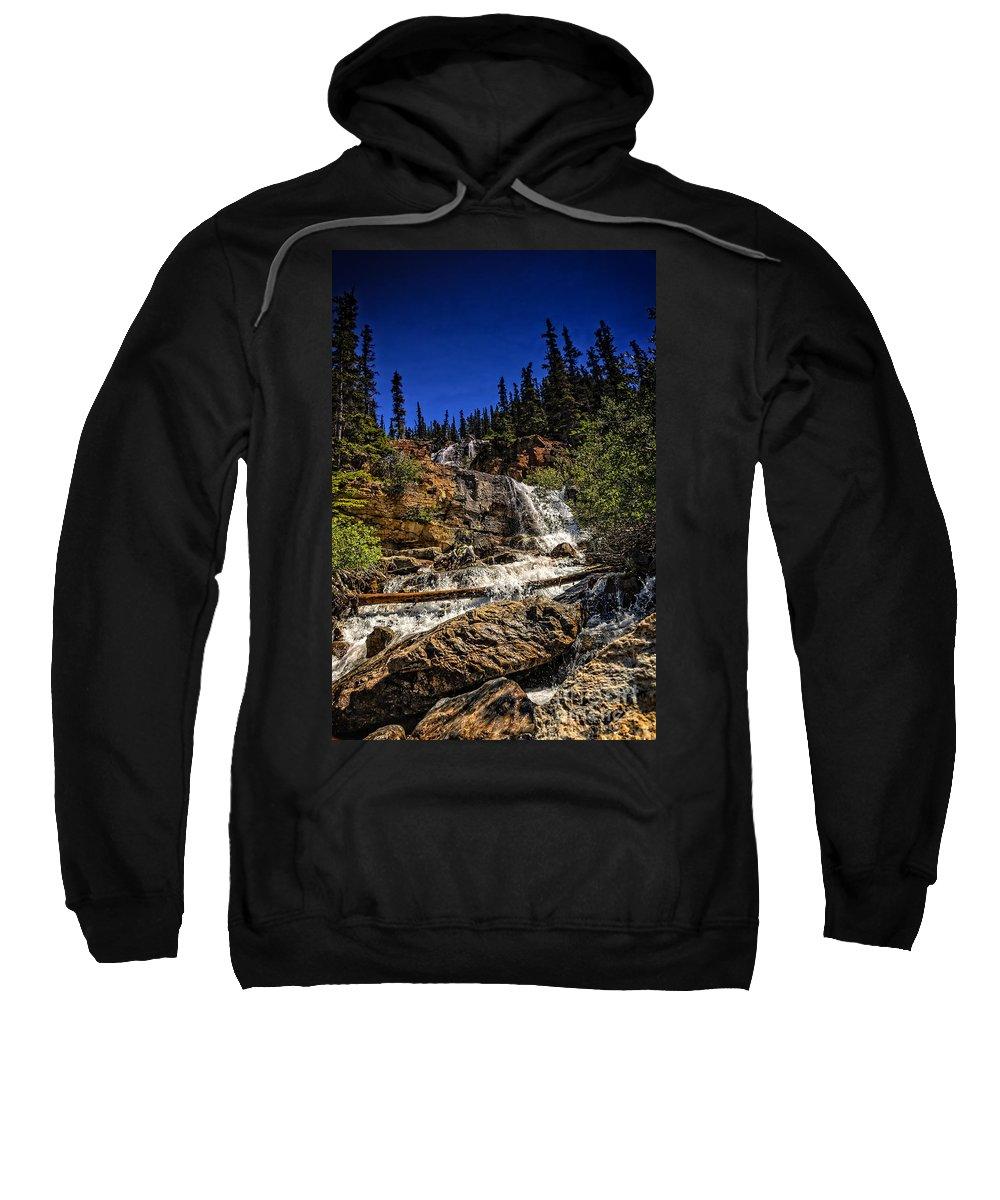 Waterfall Sweatshirt featuring the photograph Waterfall In Jasper 1 by Viktor Birkus