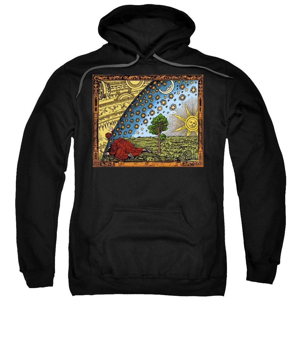 History Sweatshirt featuring the photograph Where Heaven And Earth Meet 1888 by Science Source