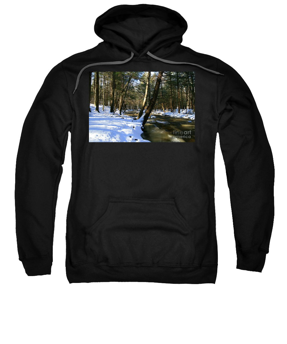 Brook Sweatshirt featuring the photograph Winter Brook by Neal Eslinger
