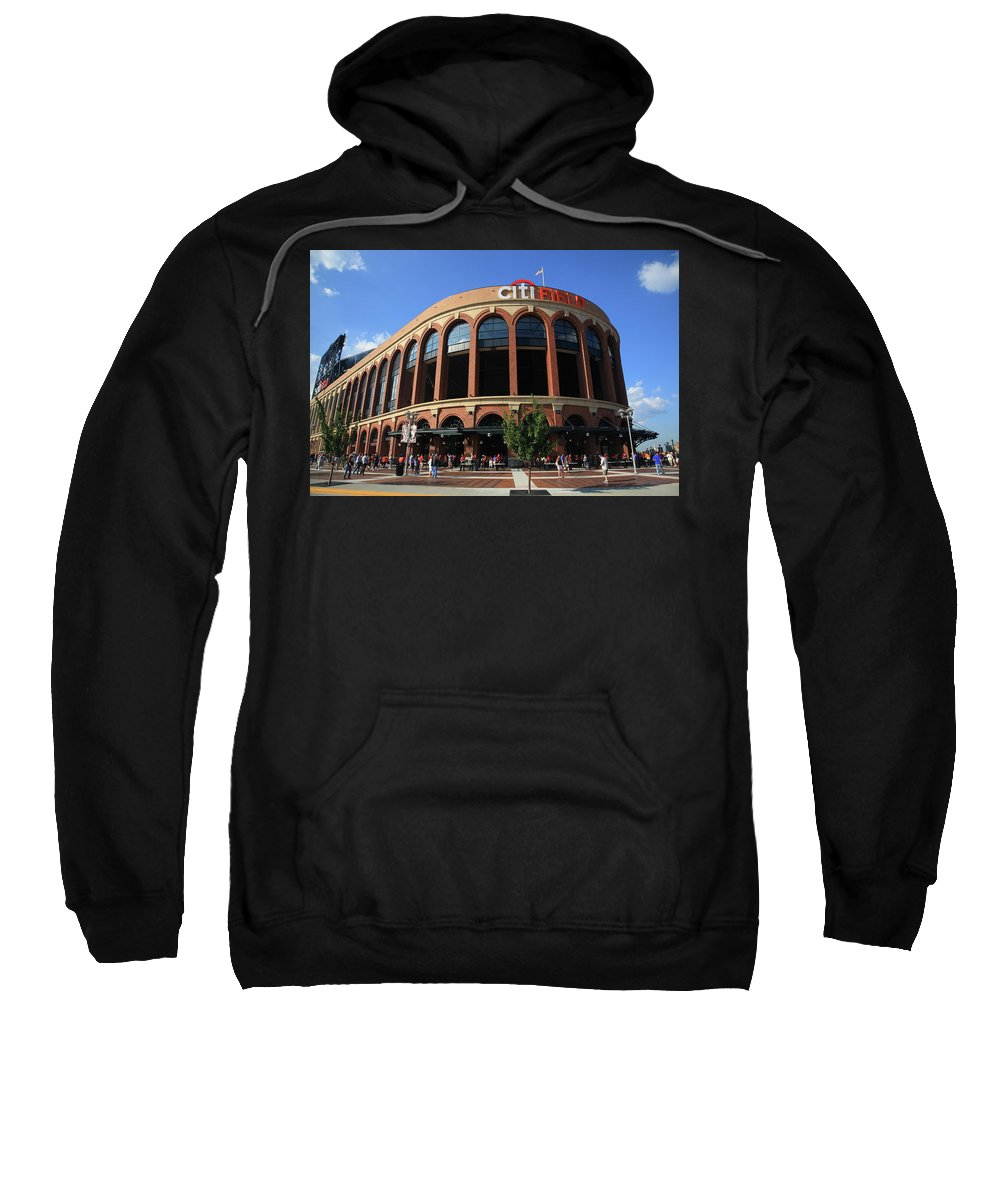 Framed Sweatshirt featuring the photograph Citi Field - New York Mets 3 by Frank Romeo