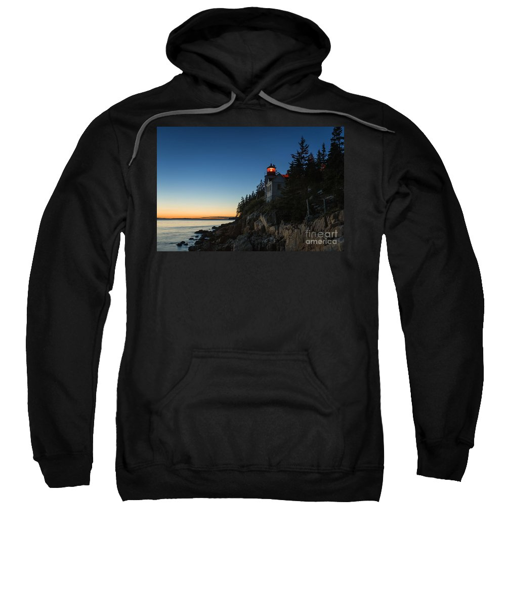 Acadia Sweatshirt featuring the photograph Bass Harbor Lighthouse by John Greim
