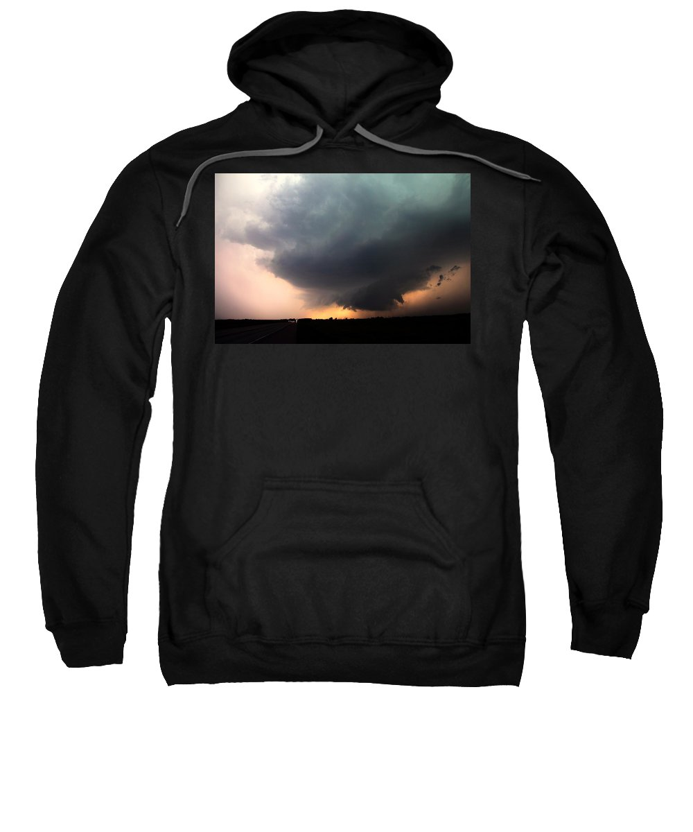 Stormscape Sweatshirt featuring the photograph Stong Nebraska Supercells by NebraskaSC