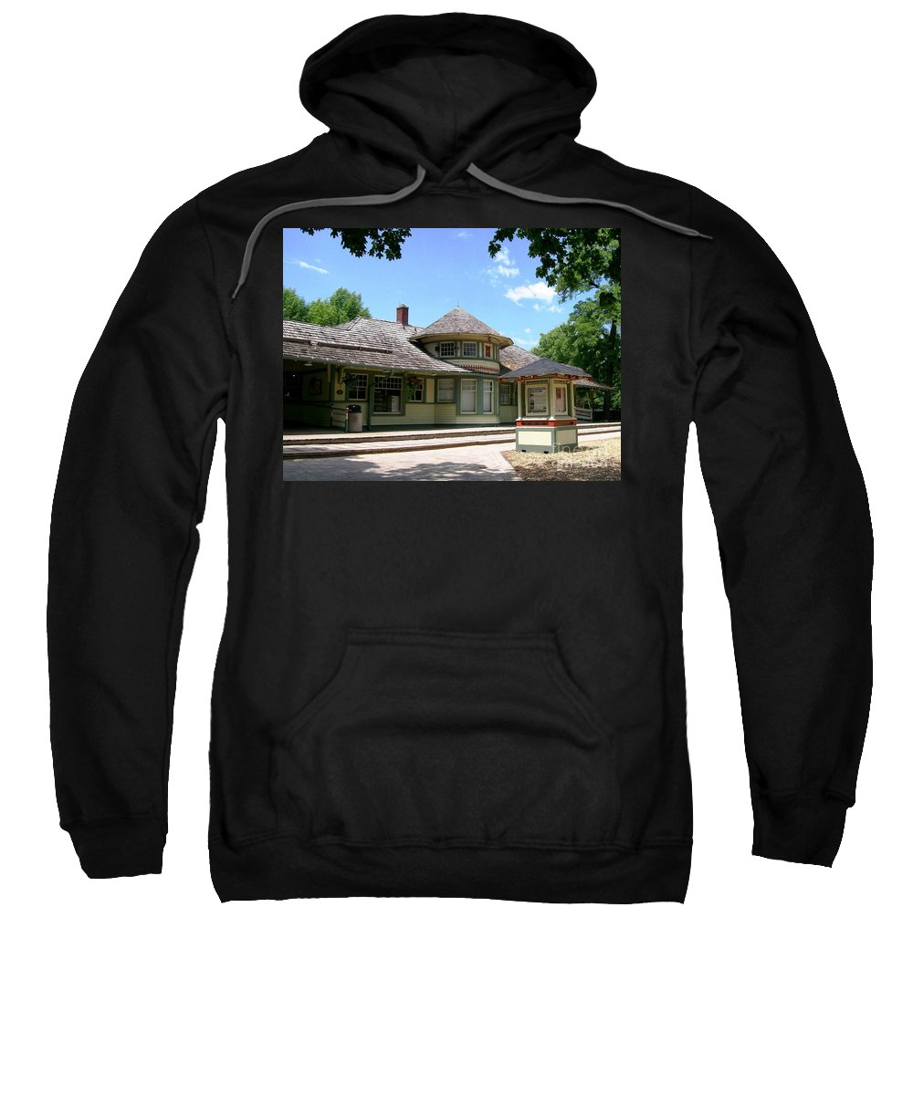 1887 Sweatshirt featuring the photograph 1887 Depot by Laurie Eve Loftin
