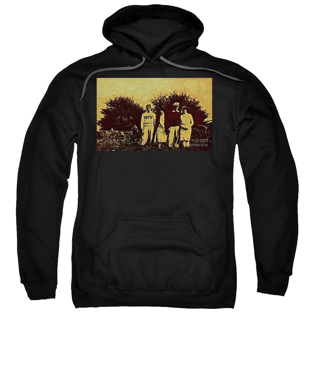 First Star Sweatshirt featuring the photograph 1920s Golf by First Star Art