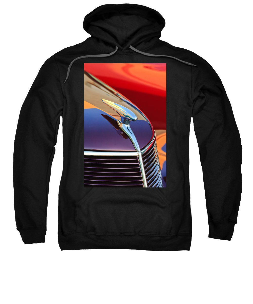 1937 Ford Sweatshirt featuring the photograph 1937 Ford Hood Ornament 2 by Jill Reger