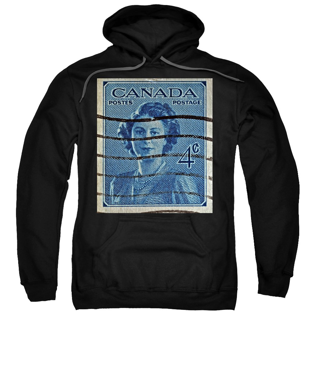 Canada Four Cents Stamp Sweatshirt featuring the photograph 1947 Canada Four Cents Stamp by Bill Owen