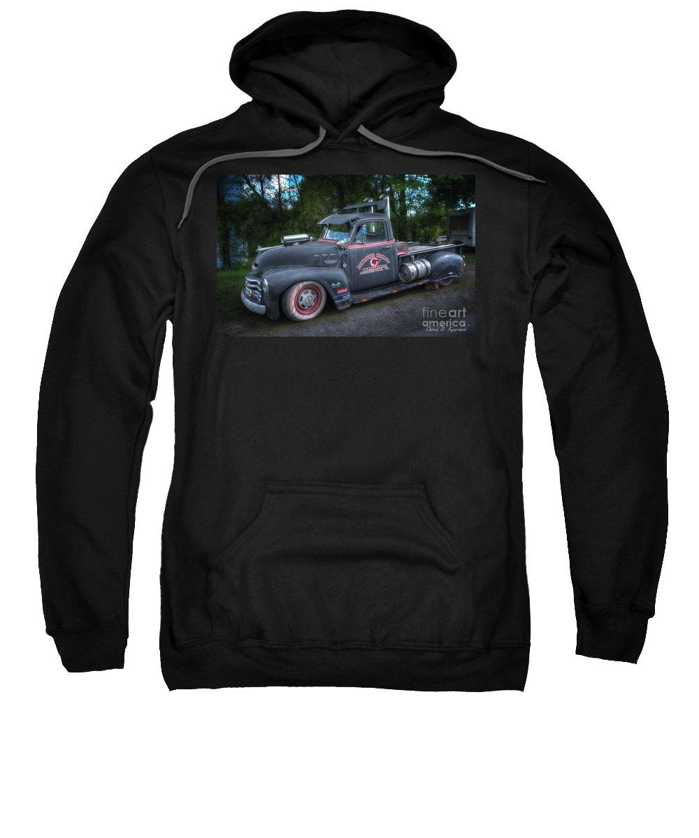 1952 Chevy Pickup Sweatshirt featuring the photograph 1952 Chevy Pickup by David B Kawchak Custom Classic Photography