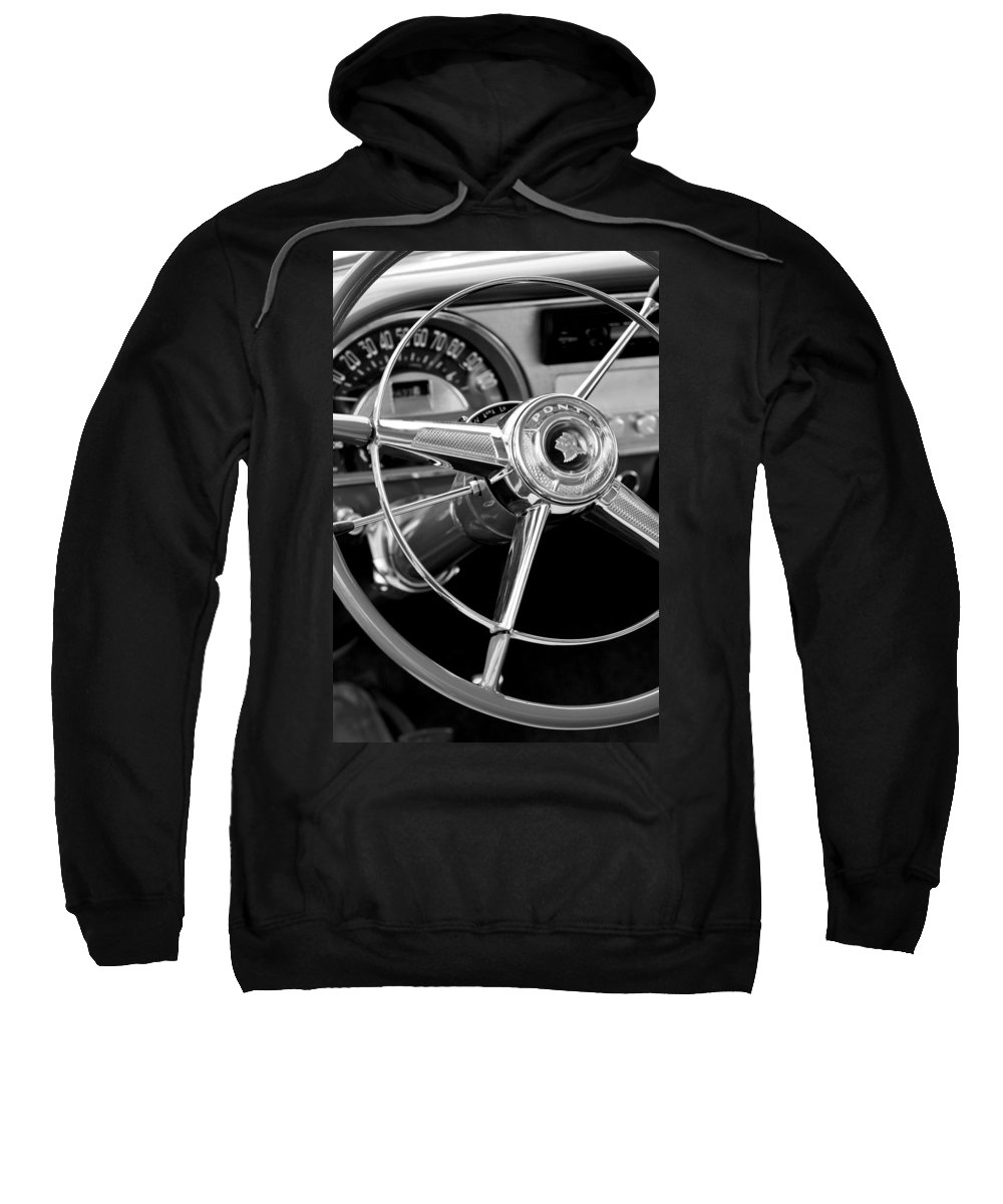 1953 Pontiac Sweatshirt featuring the photograph 1953 Pontiac Steering Wheel 2 by Jill Reger