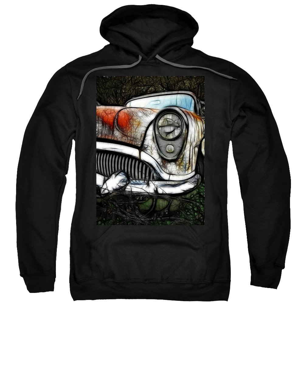 Classic Sweatshirt featuring the photograph 1954 Buick Art by Steve McKinzie