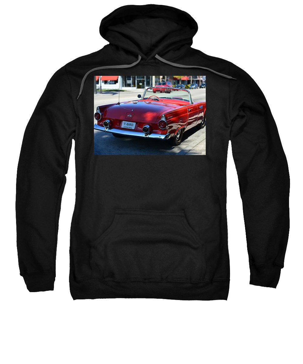 Classic Sweatshirt featuring the photograph 1955 T-bird by Laura Fasulo