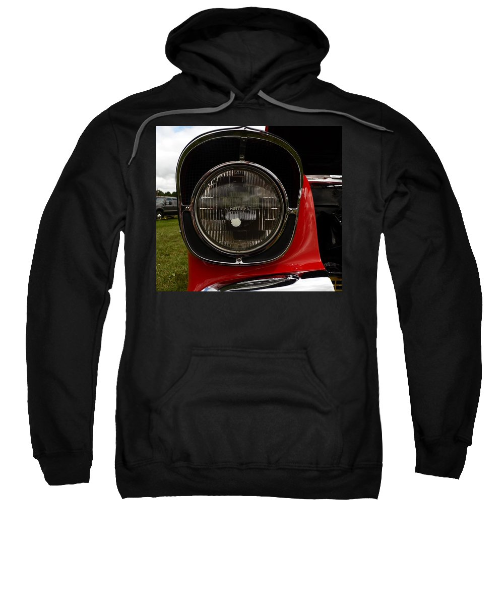 Cars Sweatshirt featuring the photograph Old Car Headlight by Karl Rose