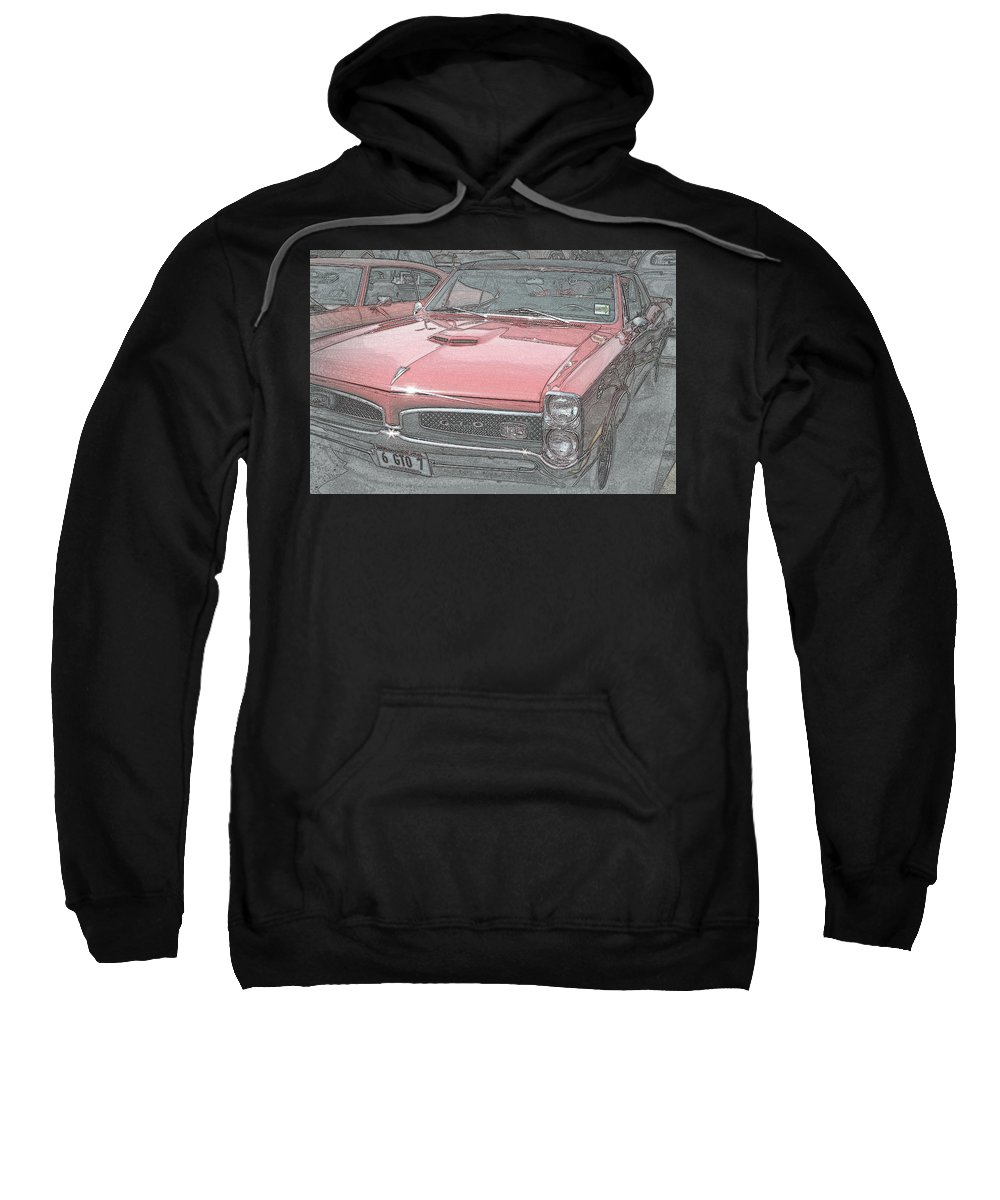 1967 Sweatshirt featuring the photograph 1967 Pontiac Gto by Kay Novy