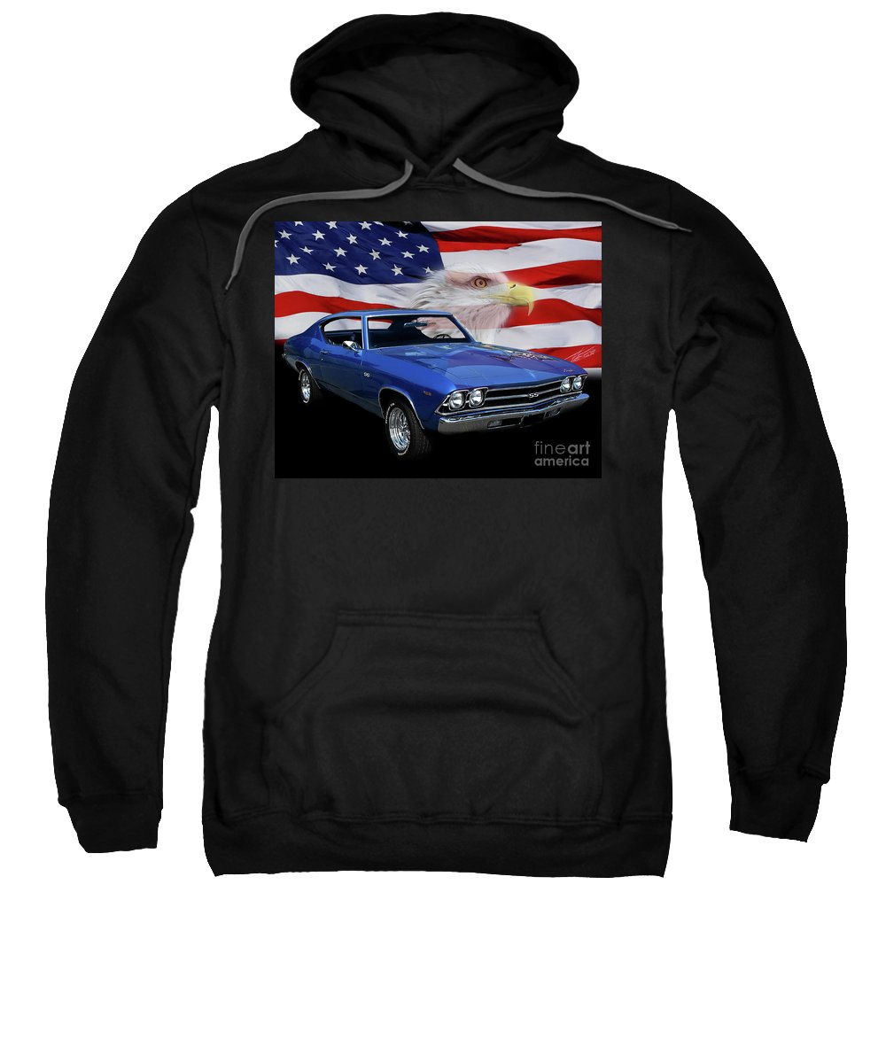 1969 Chevelle Ss Sweatshirt featuring the photograph 1969 Chevelle Tribute by Peter Piatt