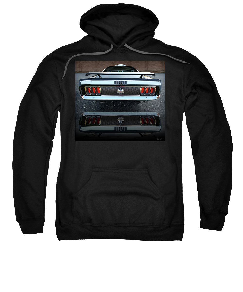 1973 Sweatshirt featuring the photograph 1970 Ford Mustang Mach 1 by Gordon Dean II