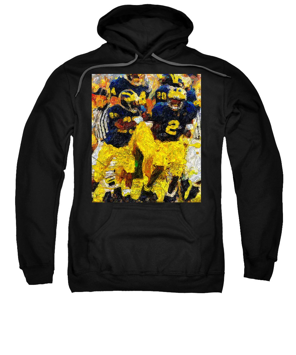 Wolverines Sweatshirt featuring the painting 1997 What A Year by John Farr