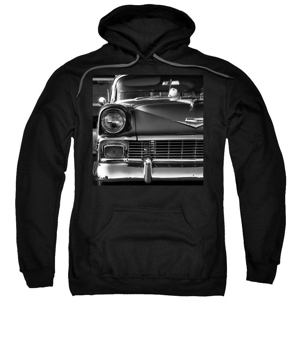 1956 Sweatshirt featuring the photograph 1956 Chevy Bel Air by Gordon Dean II