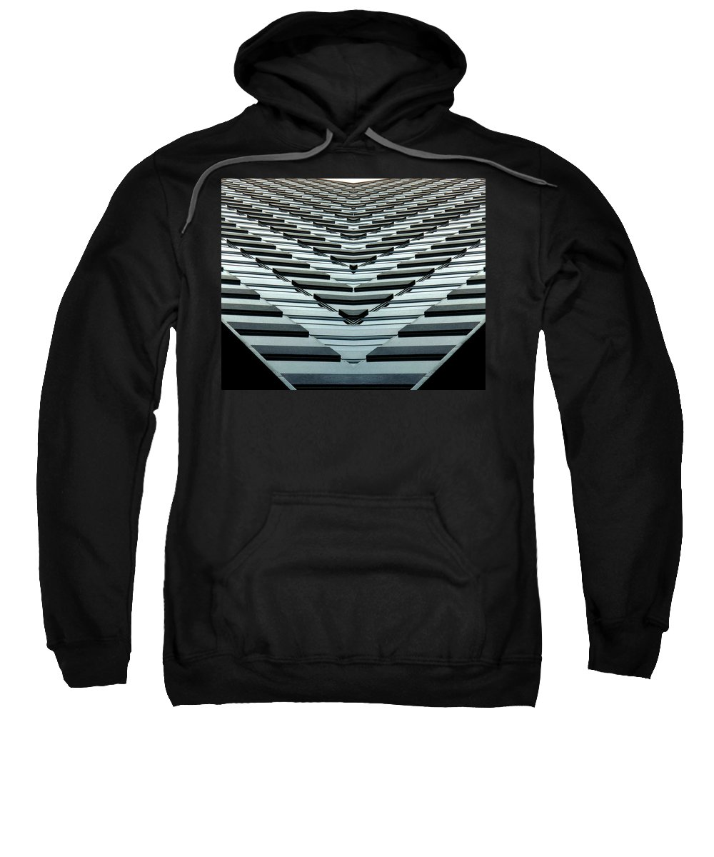 Original Sweatshirt featuring the photograph Abstract Buildings 7 by J D Owen